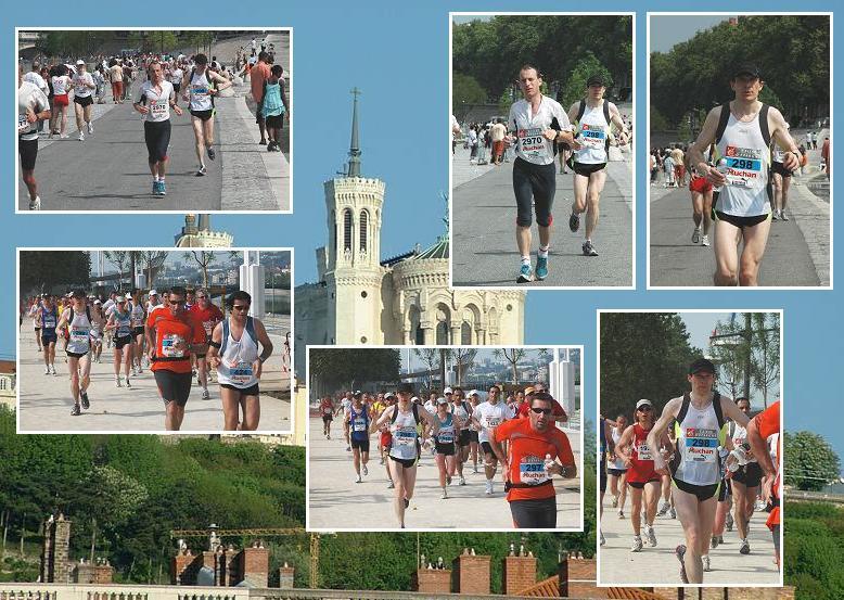 Marathon de Lyon 2007. Les quais du Rhône.