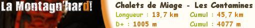 La Montagnhard 2009. Chalets de Miage - Les Contamines