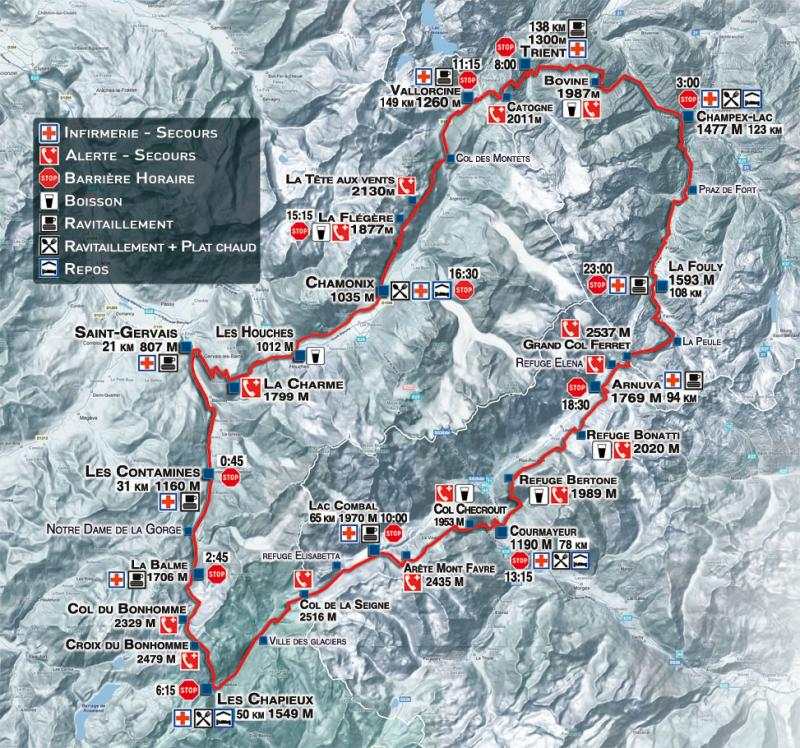 The North Face Ultra-Trail UTMB 2009 - Parcours